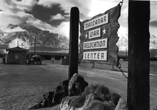 Manzanar, California. Gateway to War Relocation Center.